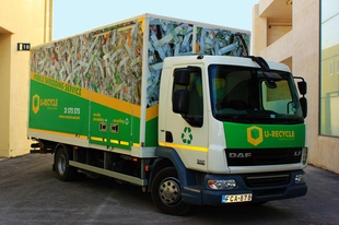 Our Shred-Truck....Learn more about recycling and shredding in Malta..